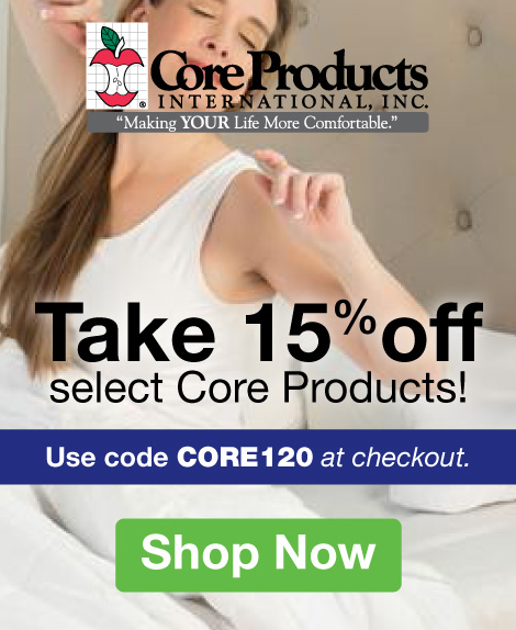 Quarter Page Ad – Take 15% Off Select Core Products with Code CORE120 – Click to View Page