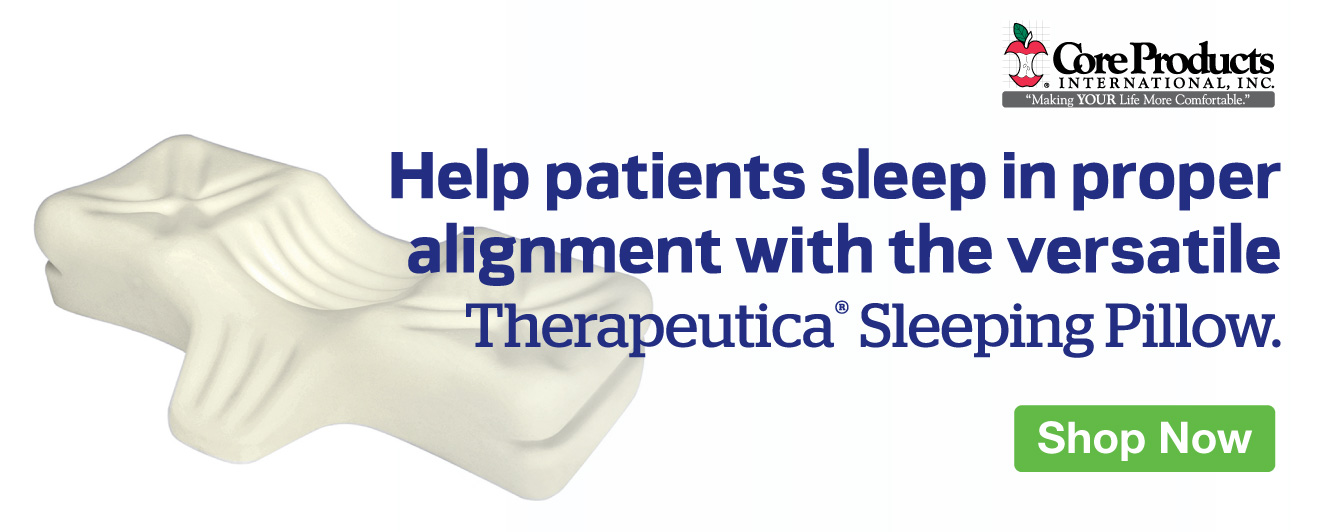 Half Page Ad – Offer the Therapeutica® Sleeping Pillow for Proper Alignment – Click to View Page