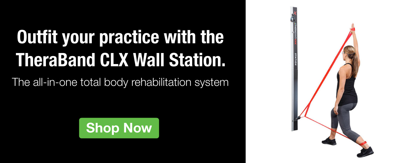 Half Page Ad – The TheraBand CLX Wall Station Rehab System – Click to View Page