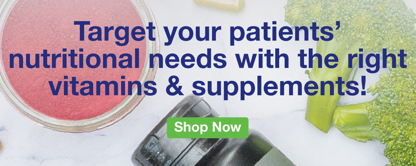 Half Page Ad – Offer Targeted Nutrition with Vitamins & Supplements – Click to Shop