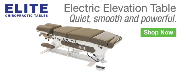 Homepage Banner Ad - Elite Manufacturing Electric Elevation Table - Click to Shop