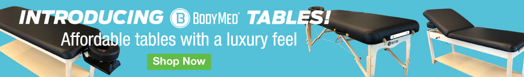 Homepage Banner Ad - BodyMed Treatment Tables - Click to Shop