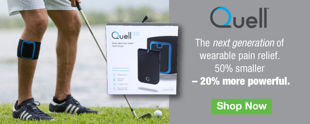 Half Page Ad – Quell 2.0 Wearable Pain Relief Device – Click to View Page