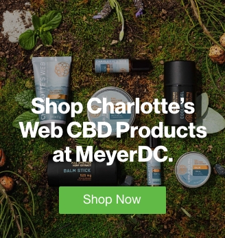 Quarter Page Ad – Shop Charlotte's Web CBD Products at MeyerDC – Click to View Page