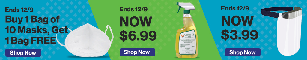 Full Page Banner Ad – Save on Masks, Disinfectants and more – Click to View Page