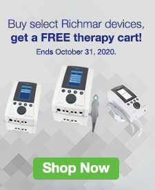 Quarter Page Ad – Buy Select Richmar Devices, Get a FREE Therapy Cart – Click to View Page