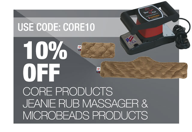 Core Products Jeanie Rub Massager and Microbeads Roller