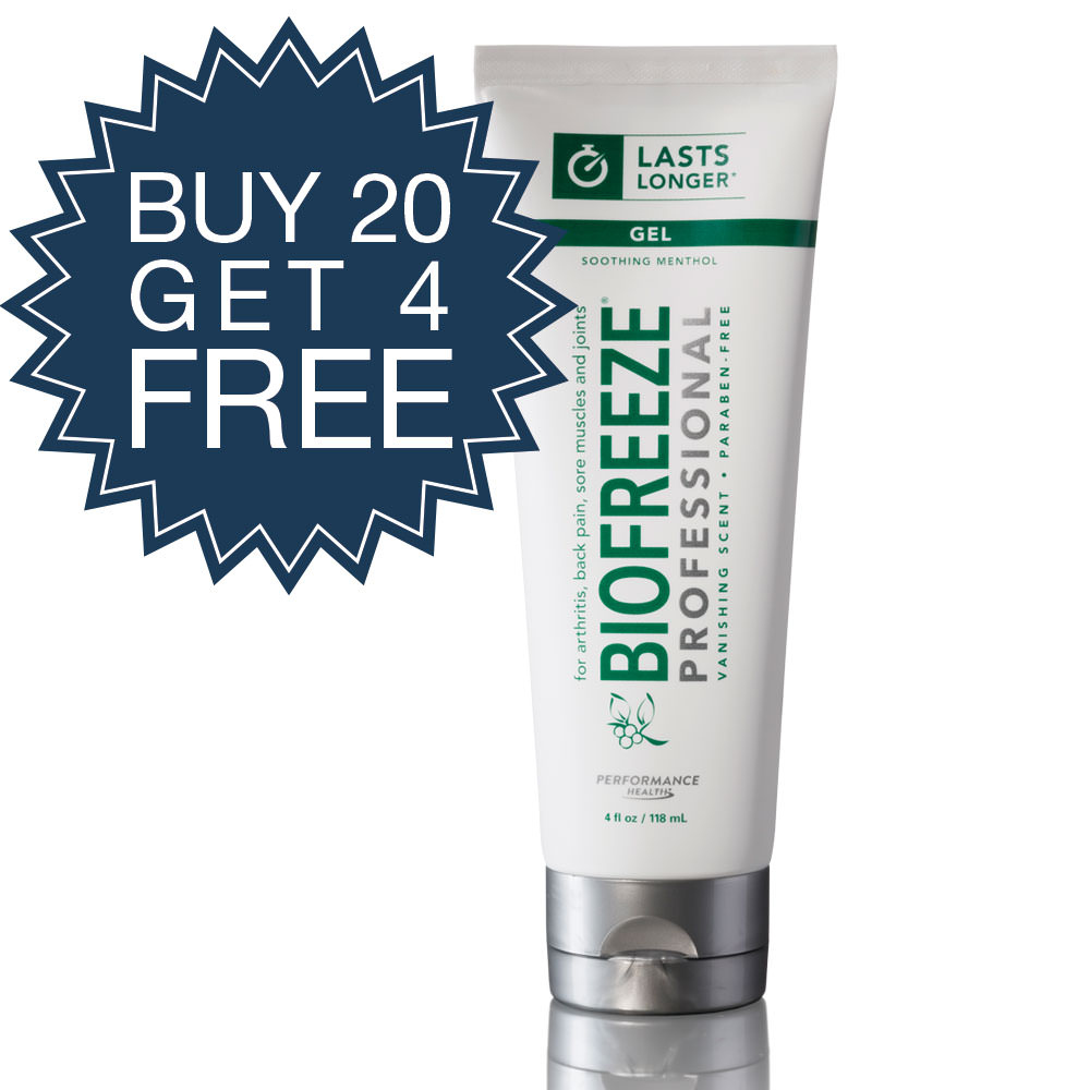 Biofreeze Professional Buy 20 4oz Tubes and Get 4 Free!