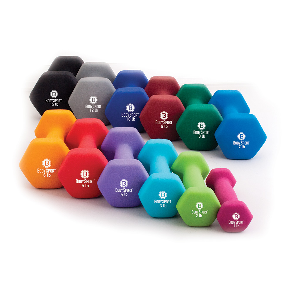 Body Sport® Colored Neoprene Dumbbells