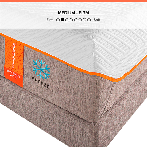 The TEMPUR-Contour Elite Breeze is a cooling, supportive, medium firm mattress for better sleep.
