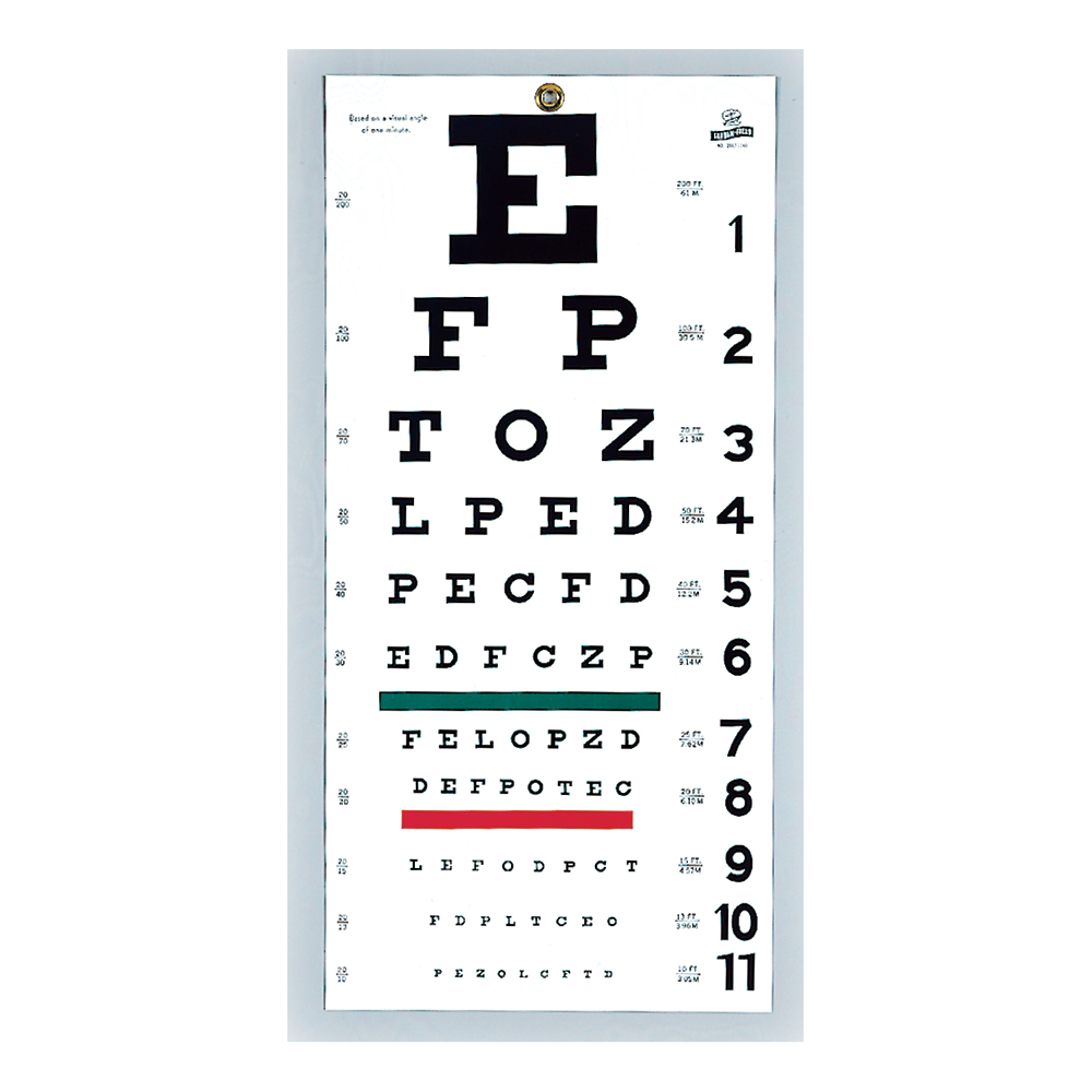 Graham-Field, Inc. Snellen Type Plastic Eye Chart