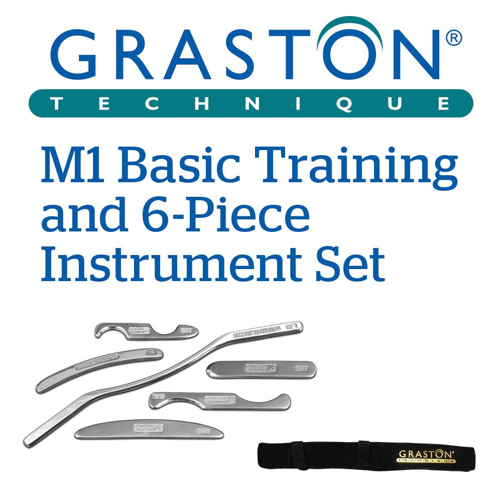 Graston Technique® M1 Training and 6-Piece Instrument Set with Roll-Up Case