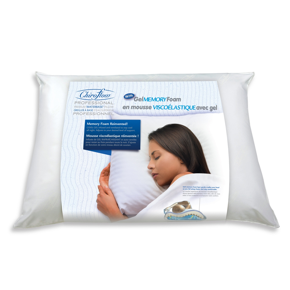 Chiroflow Memory Gel Foam Waterbase® Pillow