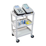 Plastic Utility Cart With Three Shelves, Casters And Recessed Handles, 16 Lbs, Gray & More at MeyerDC™