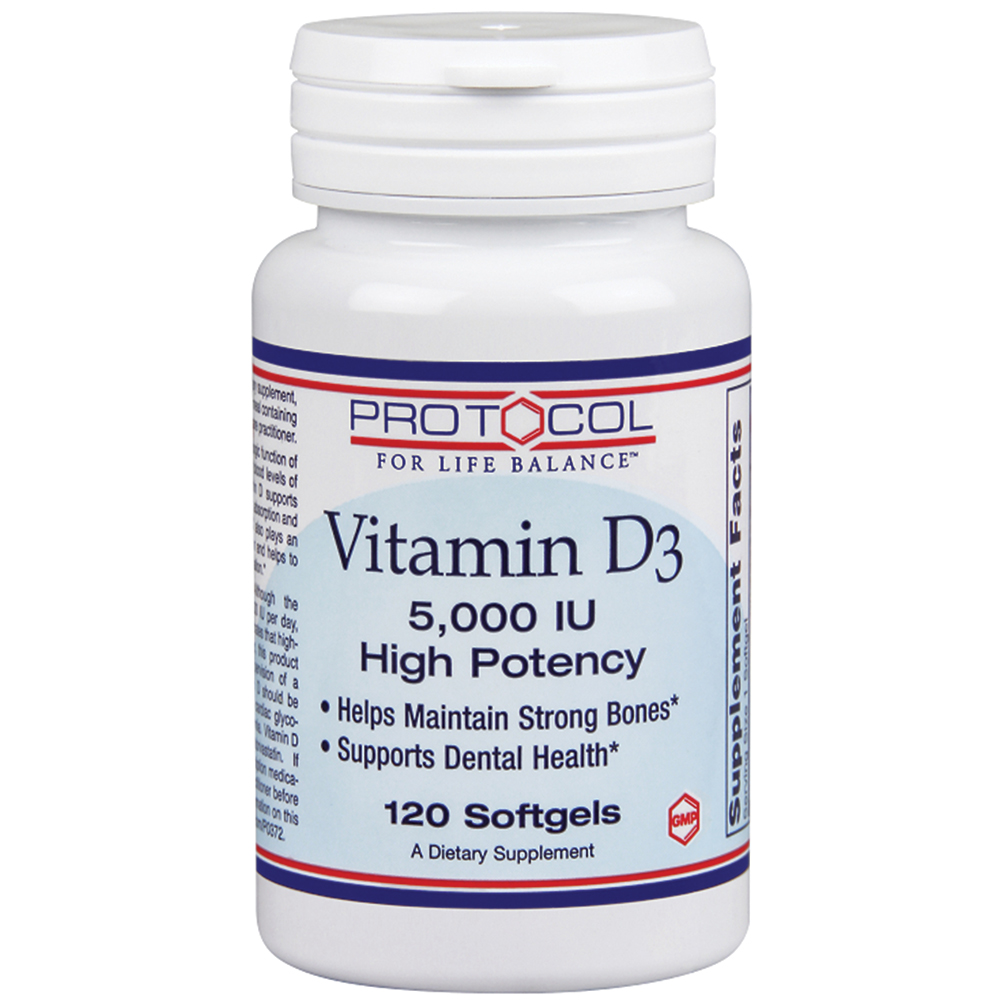 Protocol for Life Balance Vitamin D3 Softgels