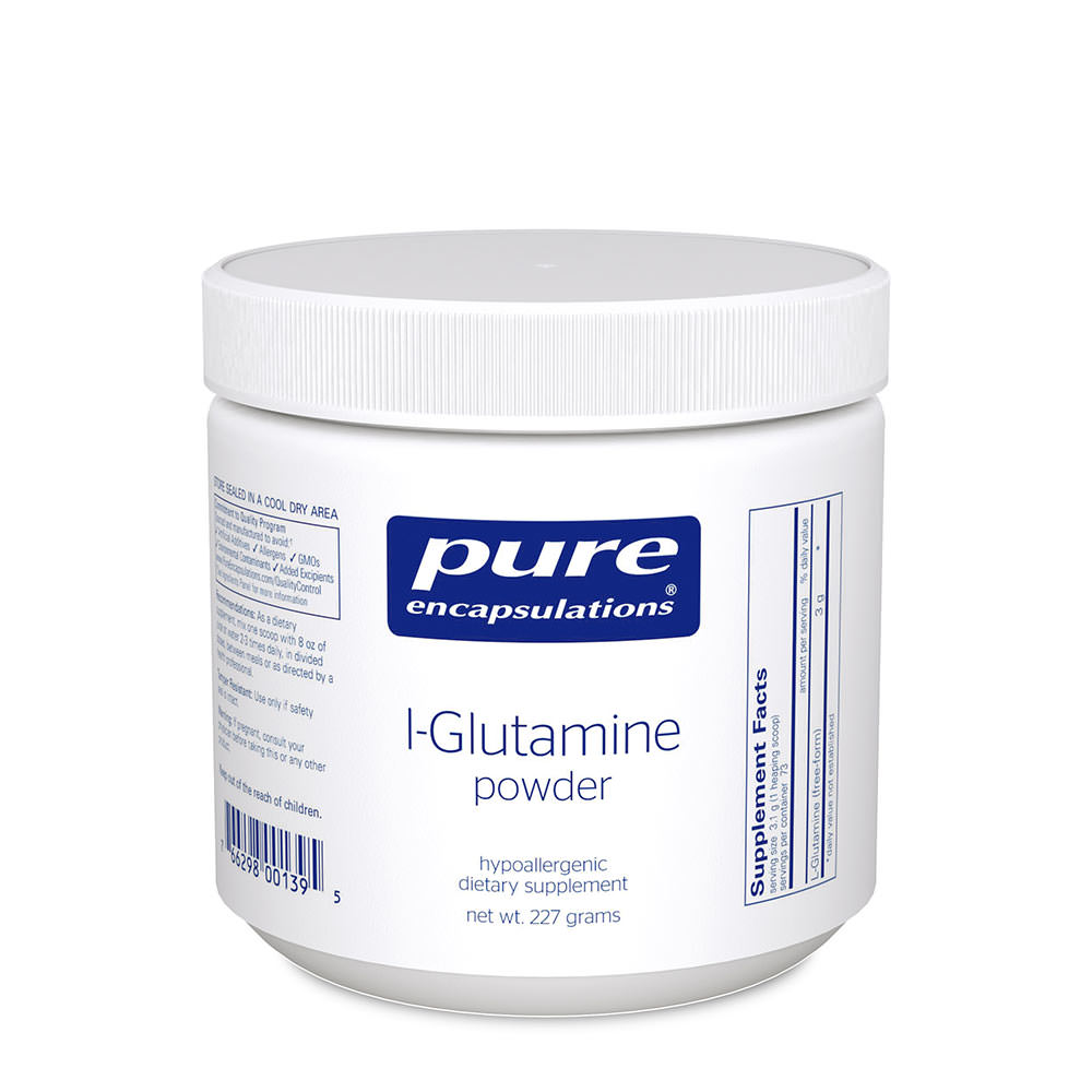 Product Image - Pure Encapsulations Glutamine Powder and Capsules - Click to Shop