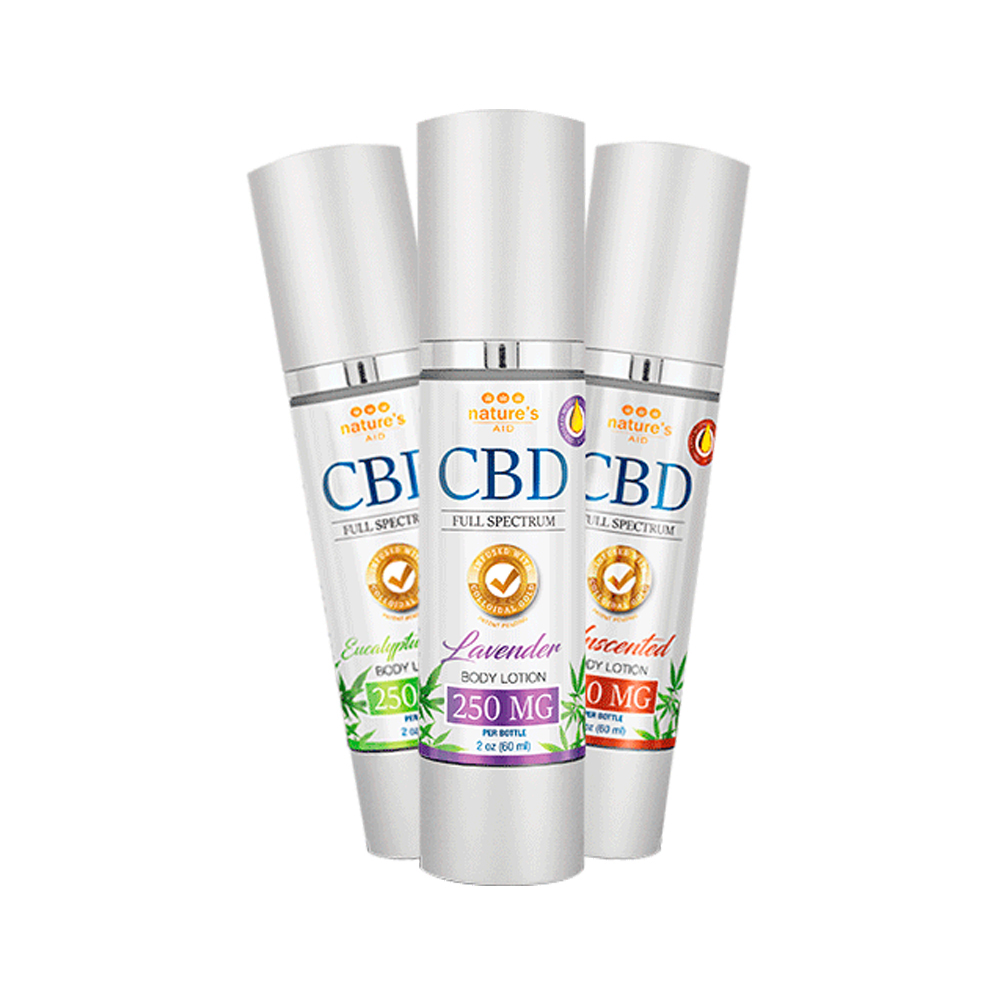 Nature's Aid CBD Body Lotions - 250mg - Click to Shop