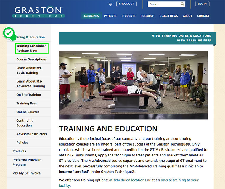 training graston technique step register physical therapy choose complete location would