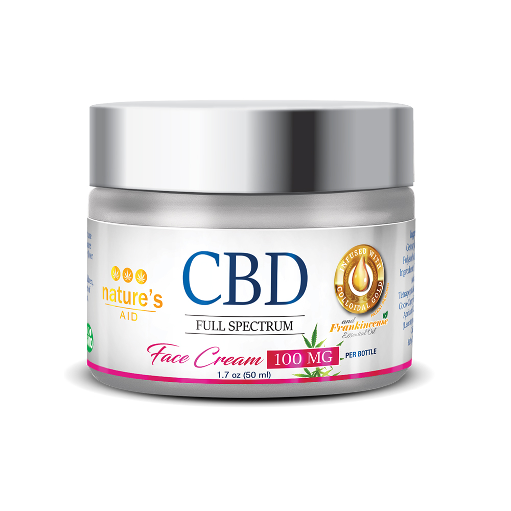 Nature's Aid CBD Face Cream 100mg