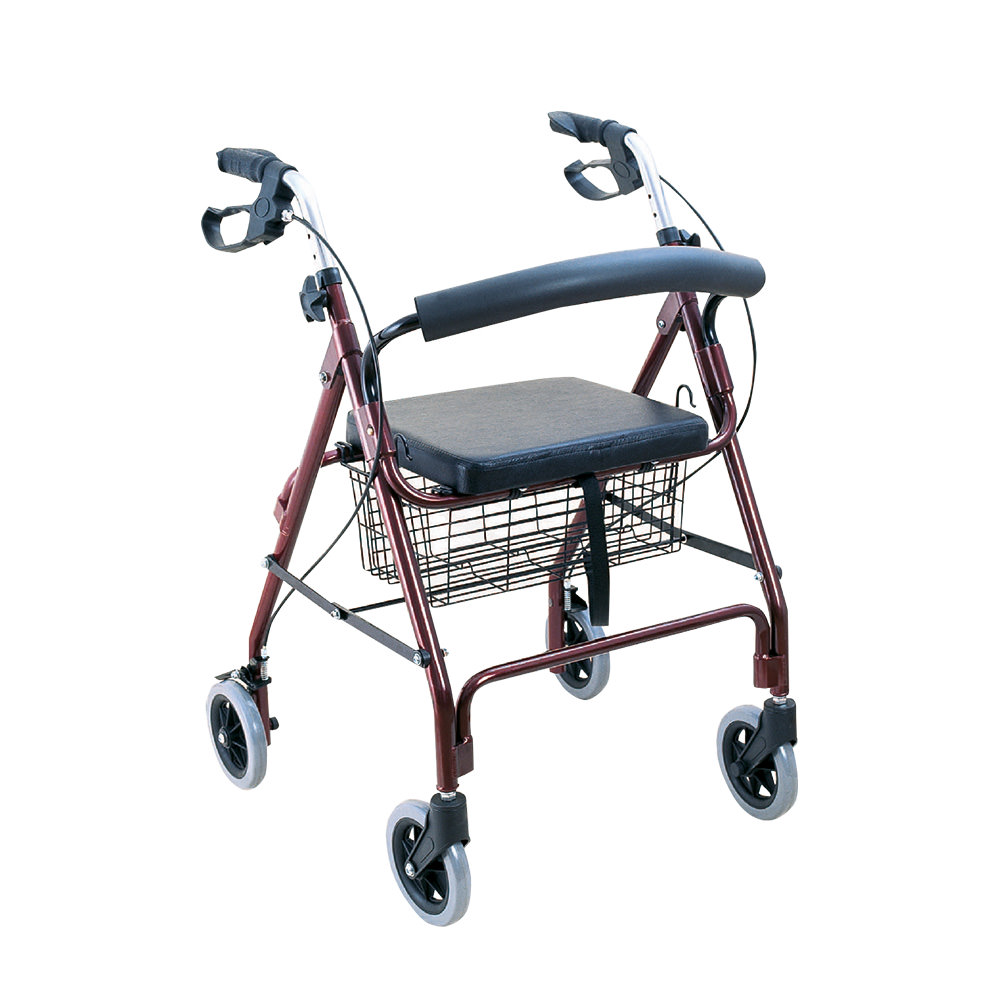 Product Image - BodyMed 4-Wheel Aluminum Rollator - Click to Shop